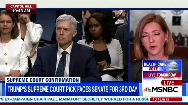 MSNBC Worried Gorsuch Thinks Human Life is 'Valuable'