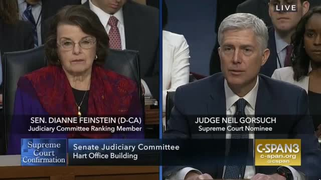 Feinstein Asks Gorsuch If Originalism Means No Equal Protection for Women, Gays or Lesbians