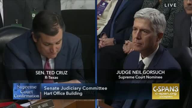 Sen. Cruz: Hypocritical of Dems to Criticize a Sitting Judge While Complaining About Trump Doing Same Thing