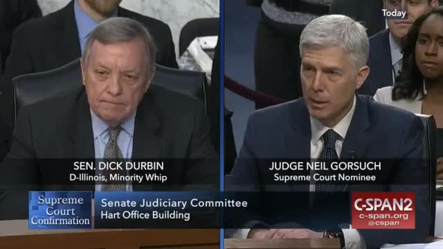 Durbin Asked Gorsuch If He Accepts Roe v. Wade