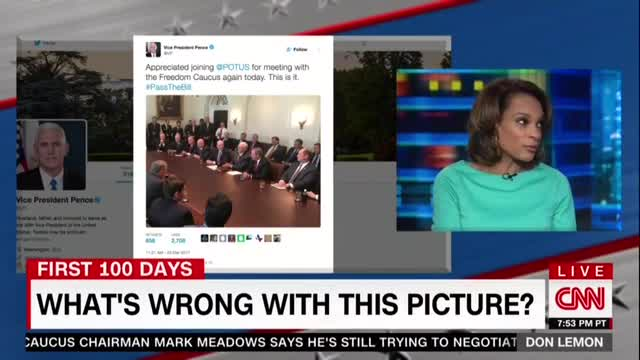 CNN Frets All White Men WH Meeting, 'Only Thing Brown Was the Table'