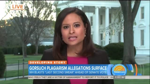 NBC's Welker Hypes Silly Gorsuch Plagiarism Charges Before Debunking Them