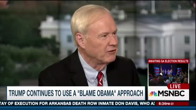 Matthews: All Trump Does Is 'B**ch, B**ch,' While Obama Was Fine Since He 'Inherited Crapola'
