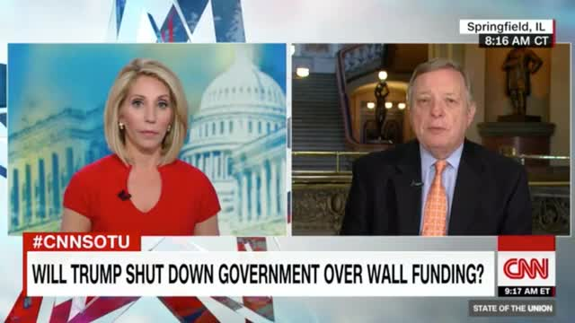 Durbin: Trump Will Be Shutting Down Gov't If He Insists on 'Outlandish' Border Wall