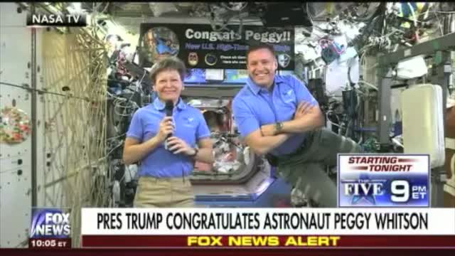Trump on Astronaut Drinking Her Own Urine: 'Better You Than Me'