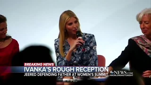 Nets Hype Ivanka Getting Booed at Women's Summit in Germany