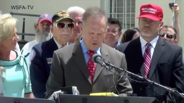 Judge Moore To Run for U.S. Senate: 'My Position Has Always Been God First, Family, Then Country'