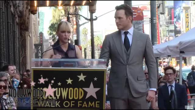 Anna Faris Intro for Chris Pratt at Hollywood Walk of Fame
