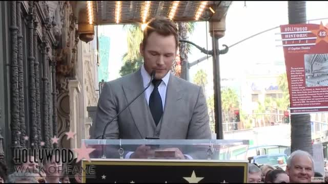 Chris Pratt Accepts Hollywood Walk of Fame Star