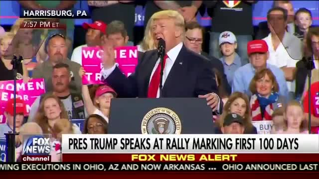 President Trump Cites MRC Study at PA Rally Marking First 100 Days in Office