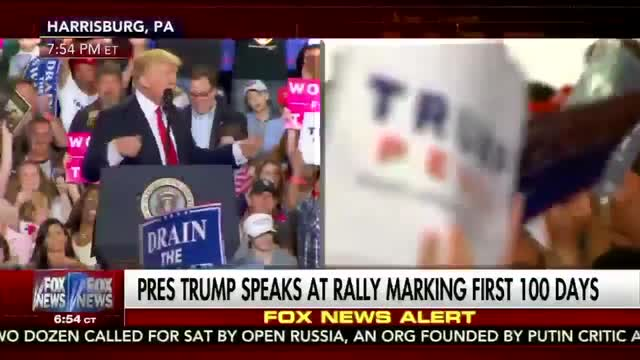 President Trump Opens First 100 Days Rally with Epic Slams of the Liberal Media