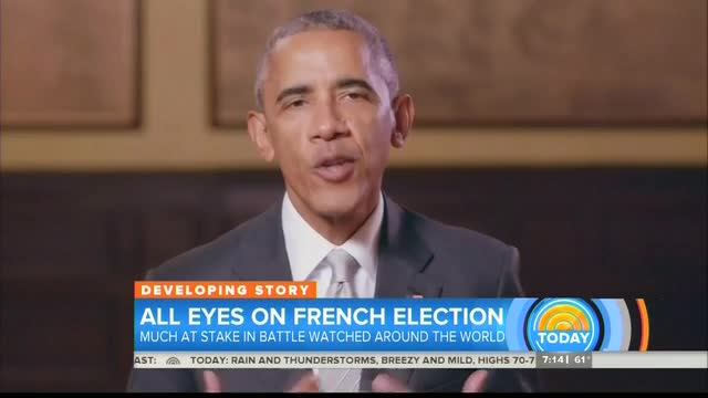 No Criticism From Nets For Obama Interfering In France's Election