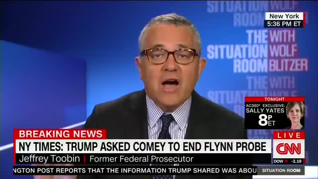 Toobin Declares Trump 'Obstruction of Justice,' Ignores Contradictory Evidence