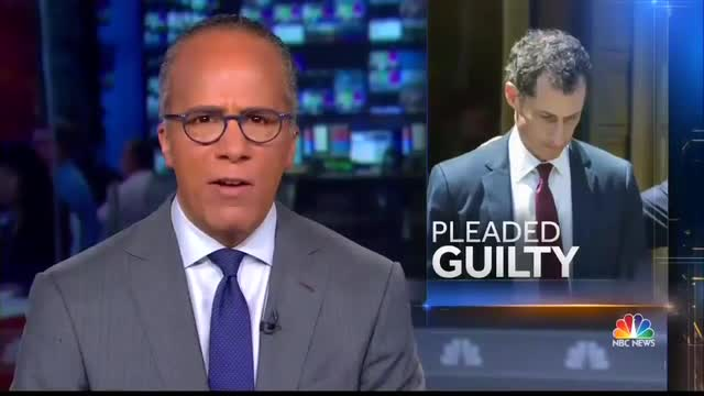 CBS Ignores Weiner Pleading Guilty to Obscenity Charge, ABC Barely Covers