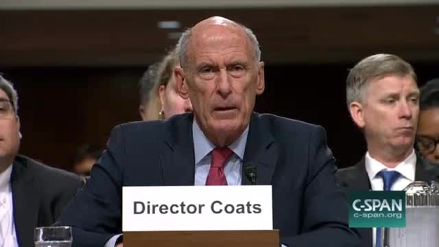 DNI Director Coates Won't Say If Trump Asked Him to Publicly Deny Any Collusion