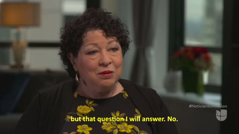 US Supreme Court Justice Sonia Sotomayor Mixes Politics with Book Tour